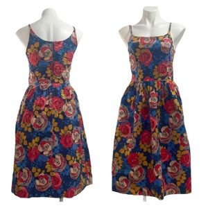 Bea & Dot MODCLOTH Fit and Flair Floral Dress